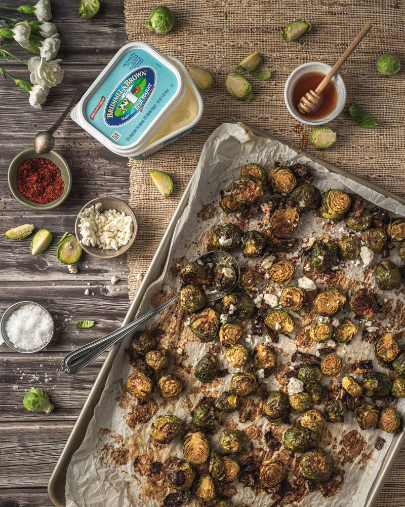 recipe image Mediterranean Roasted Brussels Sprouts