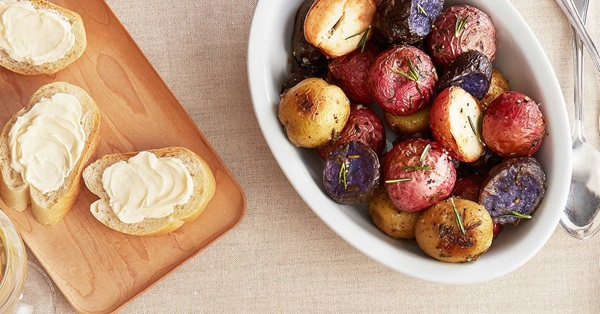 recipe image Buttery Roasted Baby Potatoes with Rosemary