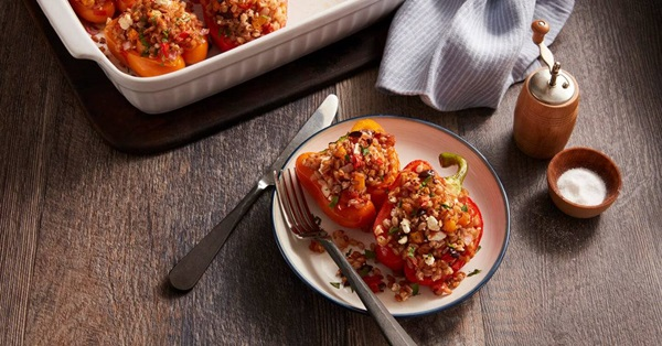 recipe image Greek Stuffed Peppers