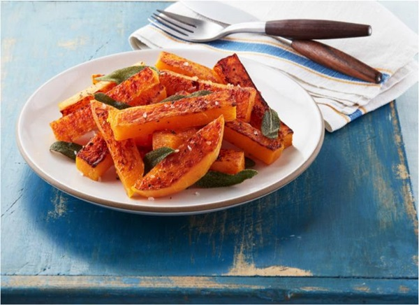 recipe image Roasted Butternut Squash with Crispy Sage Leaves